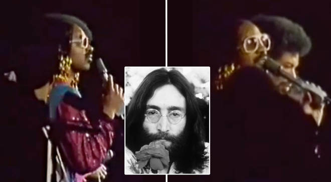 Stevie Wonder announces the death of John Lennon during live concert in 1980