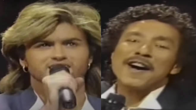 In one of his first tentative steps as a solo artist separate from Wham!, George had the honour of being one of only three white artists asked to perform, alongside Boy George and Rod Stewart, at the monumental motown gig in 1985.