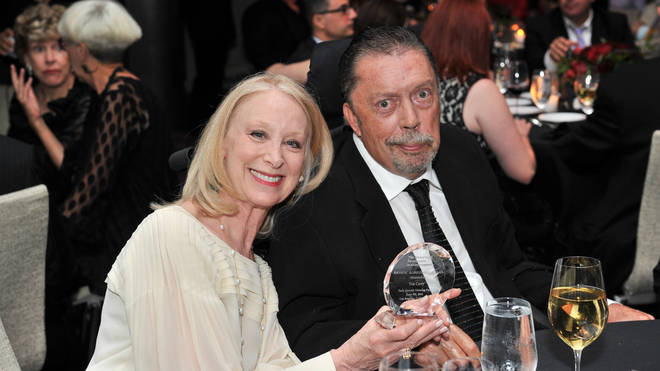 Tim Curry with Marcia Hurwitz in 2015