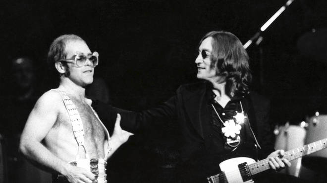 Elton John and John Lennon