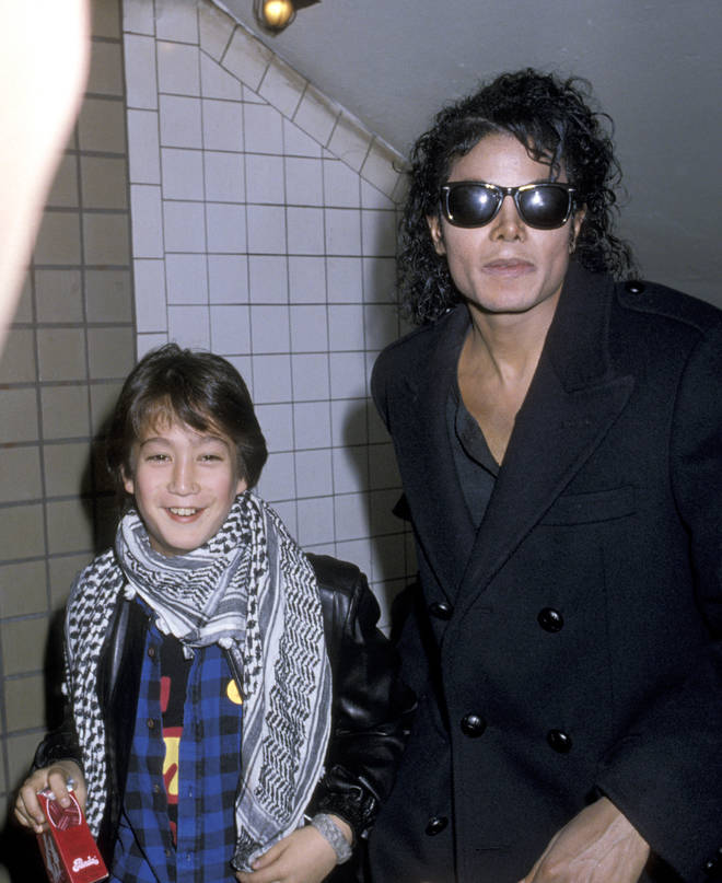 Michael Jackson with Sean Lennon in 1988