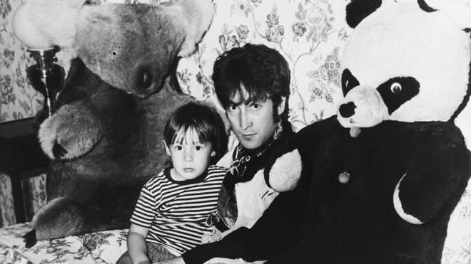 John Lennon with Julian in 1968