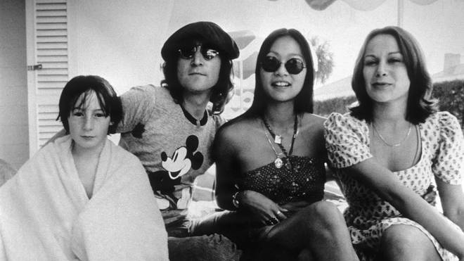 Julian Lennon with John and May Pang and a friend