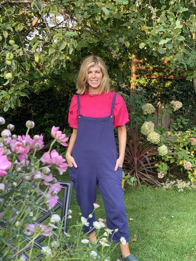 Kate Garraway at home in her back garden