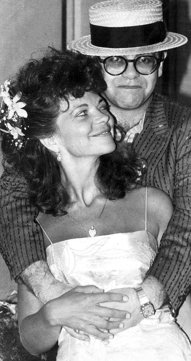 Sir Elton John with ex-wife Renate Blauel