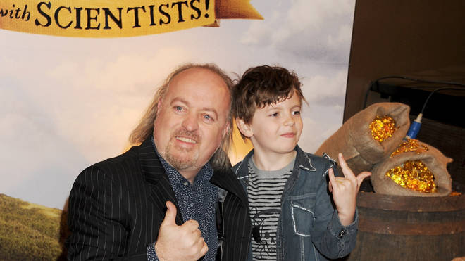Bill Bailey and son Dax in 2012