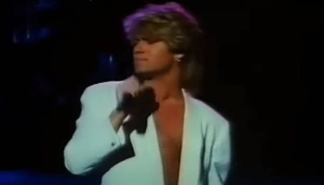 The Wham! star was on tour with Andrew Ridgeley in China when he performed his first solo single to the packed audience who gradually fell silent as George serenaded them.