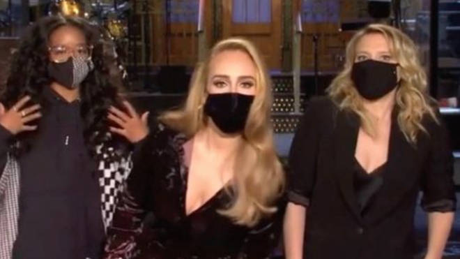 Adele has given fans a glimpse of her new seven stone weight loss in a promo released ahead of her stint hosting TV show Saturday Night Live.