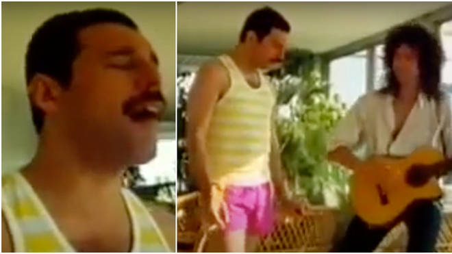 In the clip Freddie can be seen practising the traditional Hungarian folk song 'Tavaszi Szél Vizet Áraszt' that he will later sing live in front of 100,000 people at the Budapest concert.