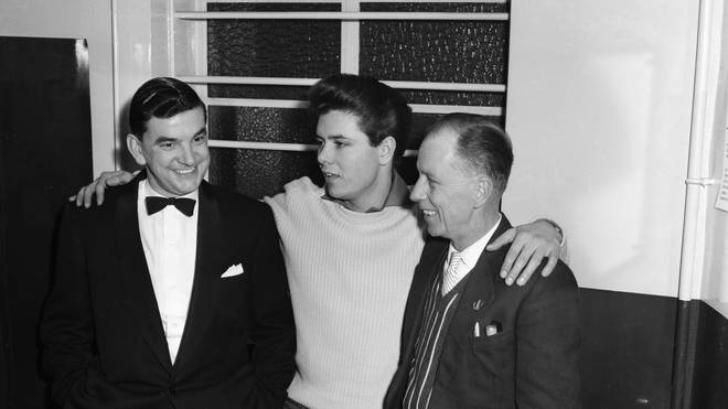 Cliff Richard and his father Rodger (right) in 1959