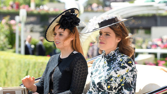 Princess Beatrice (left) and Eugenie