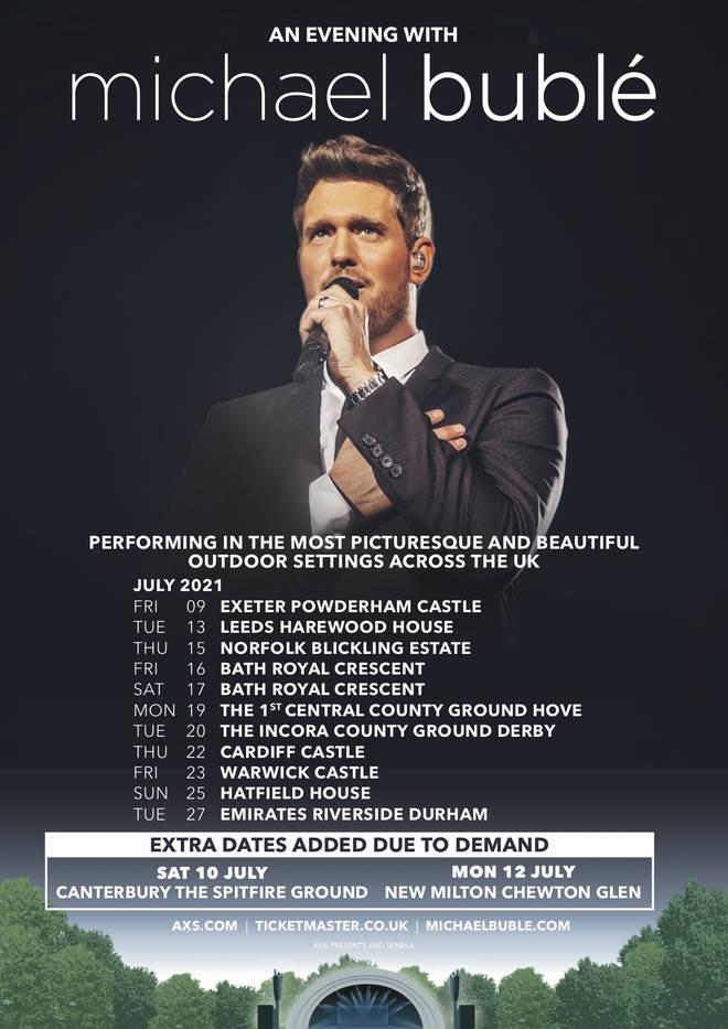 Michael Bublé tour 2021