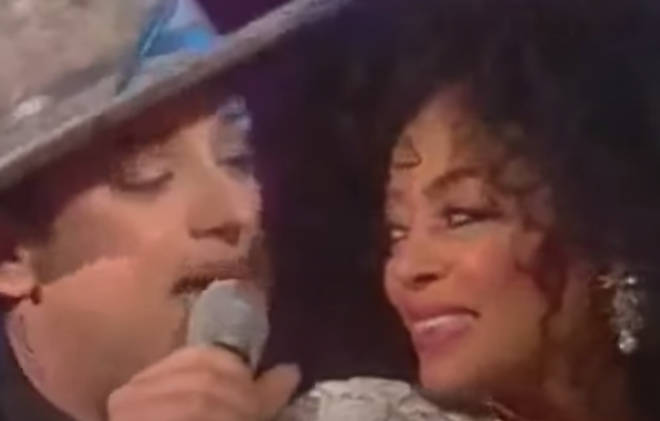 when diana ross pulled boy george on stage for a staggering duet of upside down smooth when diana ross pulled boy george on