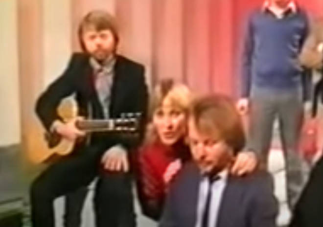 A lighthearted interview by Noel Edmonds was followed by an intimate performance of 'Under Attack' and 'I Have A Dream' by the four Swedish pop stars Agnetha Fältskog, Björn Ulvaeus, Benny Andersson, and Anni-Frid Lyngstad.