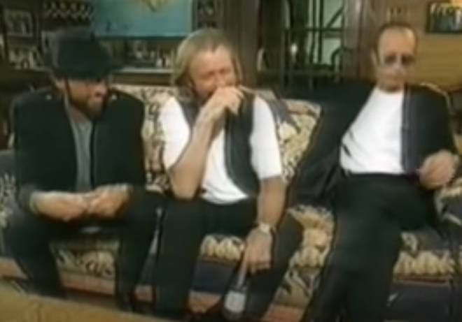 The sweet moment between the three brothers begins at seven minutes into the video when interviewer asked the trio about any possible future collaborations and the Bee Gees reveal they are going to team up with Michael Jackson.