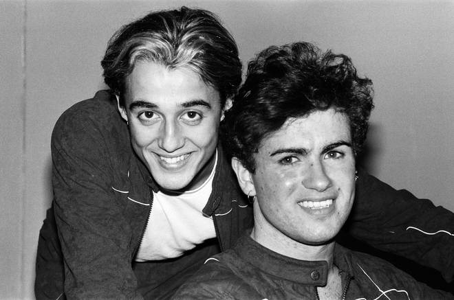 George Michael and Andrew Ridgeley on tour in 1983