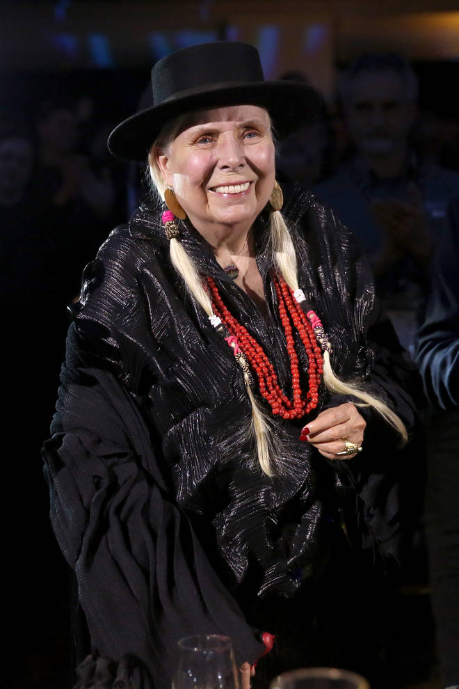 Joni Mitchell at The 2020 NAMM Show in January 2020