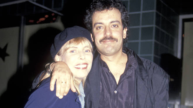 Joni Mitchell and her second husband Larry Klein in 1991