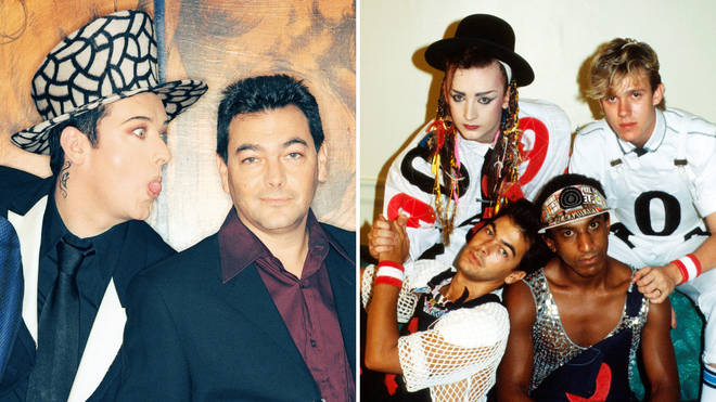 Culture Club's Boy George and Jon Moss