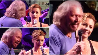 Barry Gibb and Maurice Gibb's daughter singing her father's favourite Bee Gees song 'How Can You Mend a Broken Heart', is a moment they'll treasure forever.