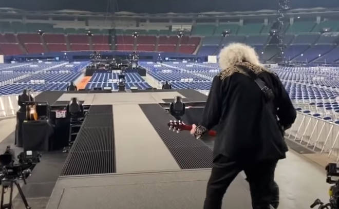 The band were in Japan on The Rhapsody Tour, Queen's ongoing worldwide concert which they had to postpone due to COVID-19.
