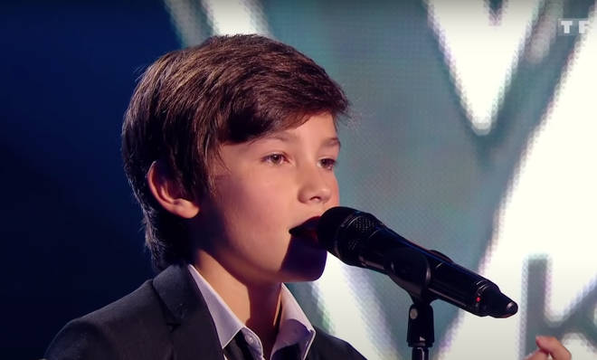Johan, 11, was competing in the blind auditions round of The Voice Kids France when the beautiful moment took place.
