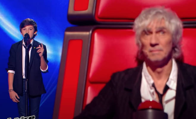 11-year-old Jonah was competing on the second series of The Voice Kids in France when the blind audition took place.