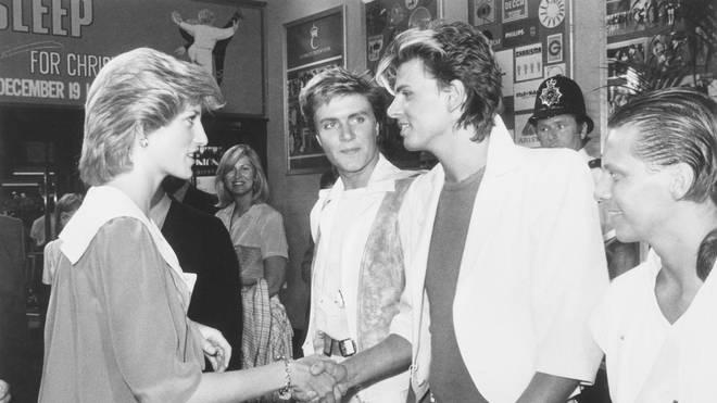 Princess Diana meeting with Duran Duran