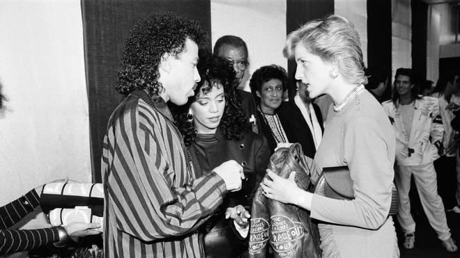 Diana meeting Lionel Richie