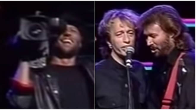The Bee Gees were performing in Melbourne in 1989 when the trio started singing a stunning medley of seven of their greatest hits.