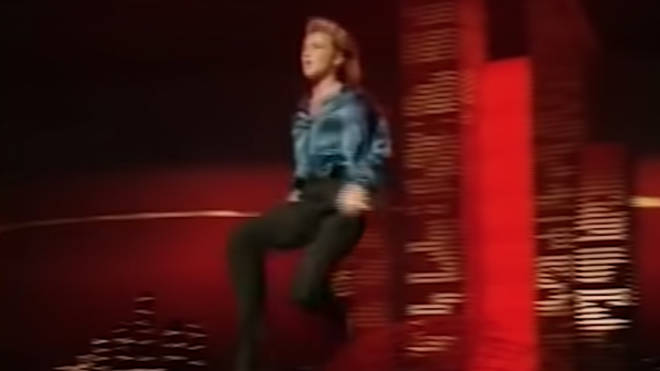 Turning the traditional Irish Step Dance on its head, stiff upper bodies and no arm movements were replaced by Flatley's elaborate, passionate dance moves as he battled a 'dance off' with the four drummers on stage.