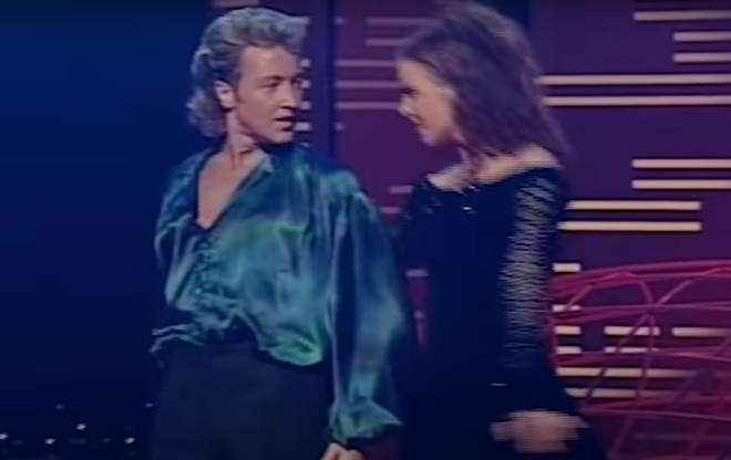 Jean then joined him once more for a highly charged dance between the pair - the likes no traditional Irish dancers had ever seen - before an army of dancers join ranks for the stunning crescendo.