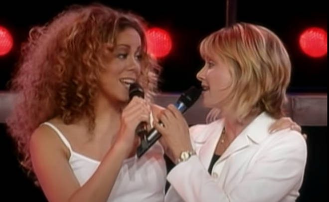 Mariah Carey was on tour in Melbourne in 2002, when on the evening of February 16 she launched into a version of 'Hopelessly Devoted To You' with Olivia Newton-John.
