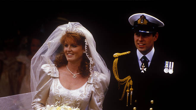 The wedding of Prince Andrew, Duke of York, and Sarah Ferguson at Westminster Abbey, London, UK