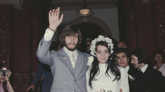 Barry Gibb and Linda Gray's wedding