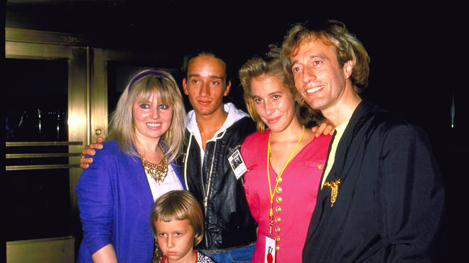 Robin Gibb with wife Dwina and children Robin John, Spencer and Melissa