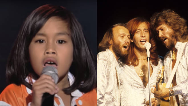 The young boy was competing on the blind audition rounds of the 2014 show when he gave an incredible performance of the Gibb brothers' 1978 hit 'Too Much Heaven.