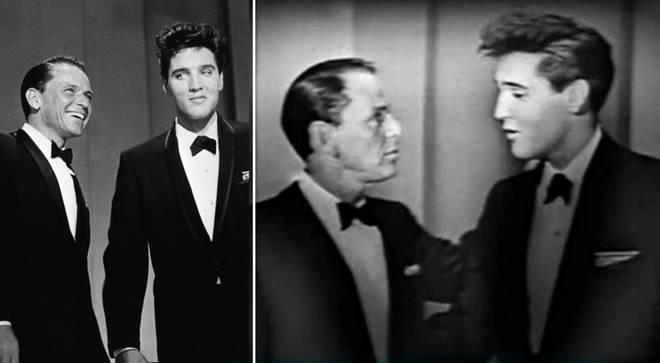 Watch 25-year-old Elvis Presley sing duet with Frank Sinatra in incredible 1960 footage