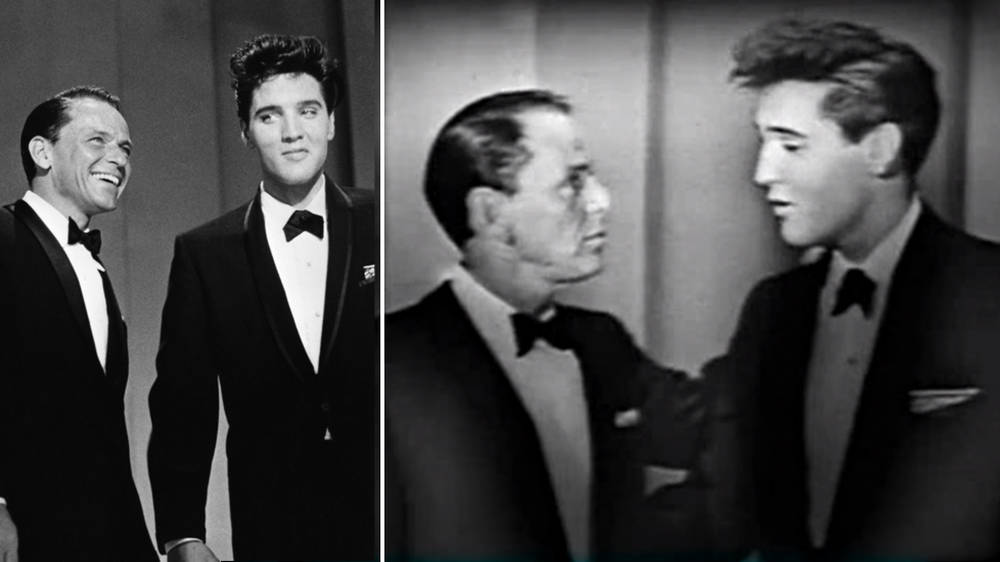 Watch a 25-year-old Elvis Presley sing duet with Frank Sinatra in incredible footage from 1960