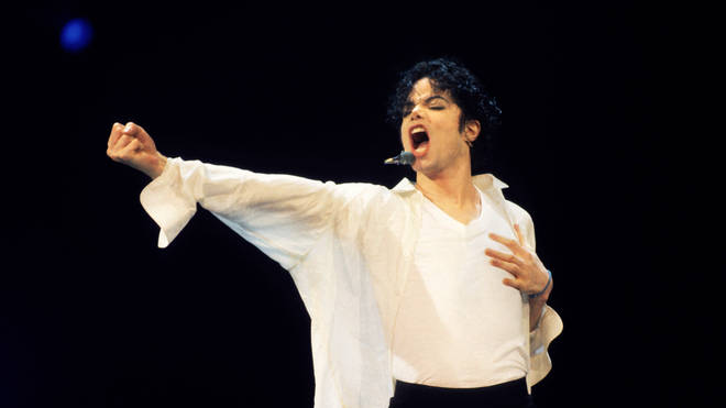 Michael Jackson performing in 1995