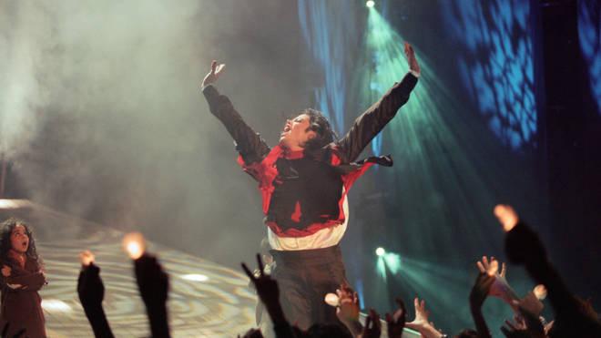 Michael Jackson at the Brit Music Awards, 1996