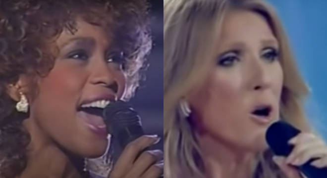 The Celine and Whitney collaboration video shows Houston's own stunning performance of 'Greatest Love Of All' at the 1986 Grammy Awards.