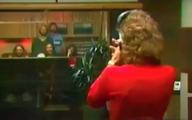Barry Gibb then takes to the microphone as he tried to mimic the sound and hilarity ensues as his brothers rib him and mock his efforts from the control room.
