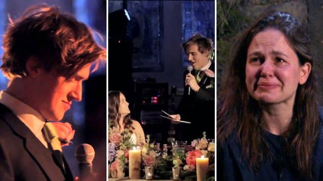 Tom Fletcher's wedding speech to Giovanna is an amazing watch