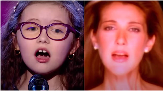 Tiny Emma Cerchi, 9, stunned the judges with a beautiful rendition of Celine Dion's famous song on the fifth season of The Voice Kids France.