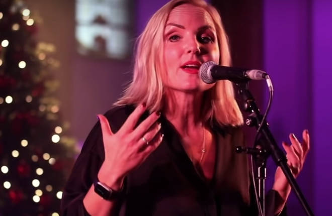The original holiday song 'One Beautiful Christmas Day' was written by the pair and sees Ellis - a singer/actress who was the lead in Queen musical We Will Rock You - on vocals, and May on guitar for the upbeat song.