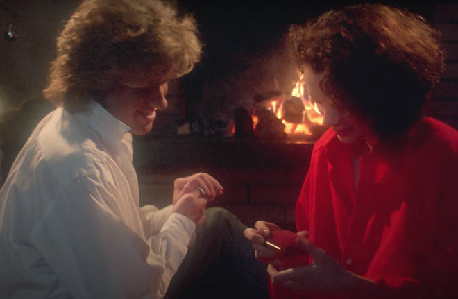 The song was recorded in the height of summer, in August 1984 and saw George Michael produce and play every instrument on the track, including a Linn 9000 drum machine and sleigh bells. Pictured, George Michael in the music video for 'Last Christmas'