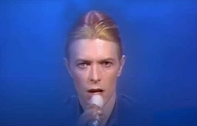 David Bowie (pictured) and the Cher took to the stage for their third recorded duet of the day when they performed 'Can You Hear Me'