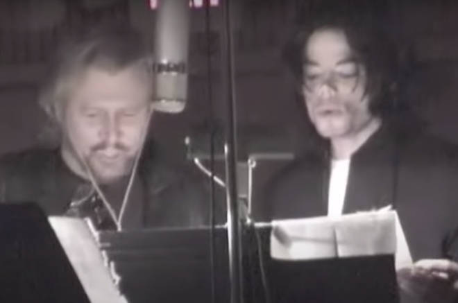 Barry Gibb released the track in 2011, two years after Michael's death, and accompanied it with the footage of the pair recording the song at Miami's Middle Ear Studio in 2002 (pictured).