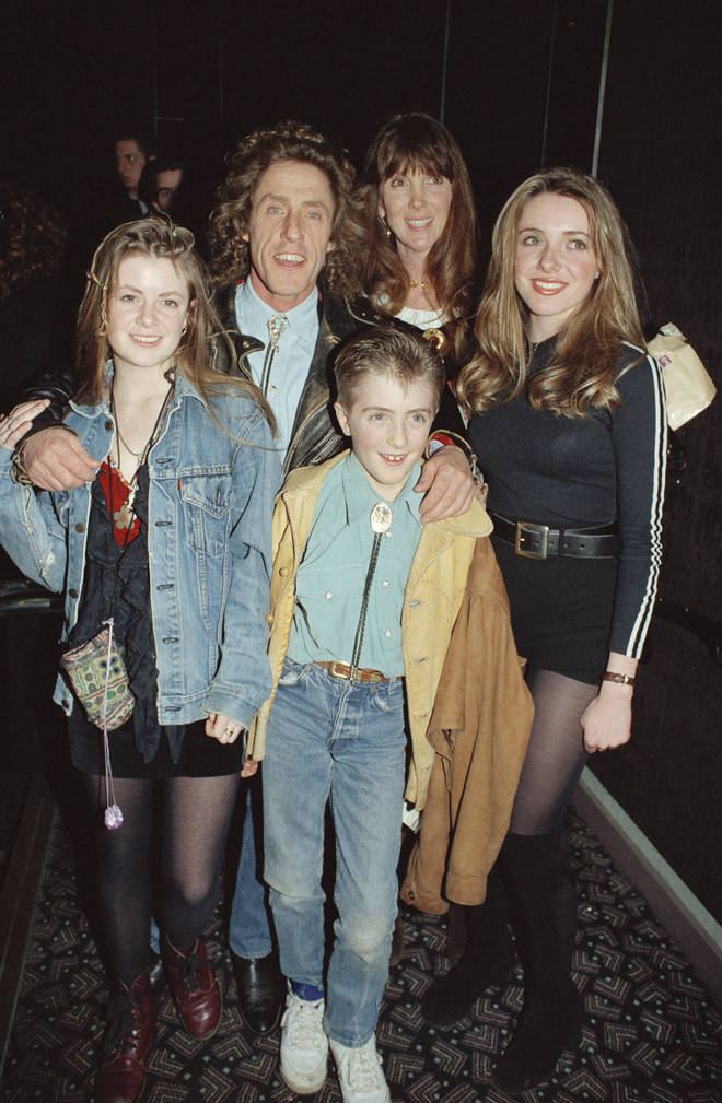 Roger Daltrey and his family in 1990